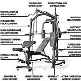 MARCY Heim-Gym Multipresse mit Hantelbank Smith-Maschine, Schwarz, One Size - 3