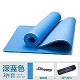 YOOMAT Grün Flach Unterstützung erhöhte Training Gymnastikmatte Fitnessmatte Kit Starter 8mm Herren Bodenschutzmatte Verlängerung, 8mm (Starter), Dunkelblau Netzwerk Paket 3-Teilig set99905