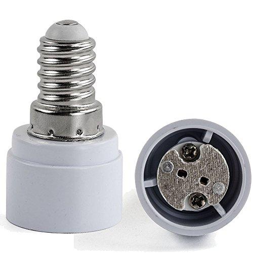 AWE-LIGHT 6x Lampensockel Adapter Lampenhalter E14 auf MR16 GU5.3 G4 GU4 MR11 Adapter Konverter