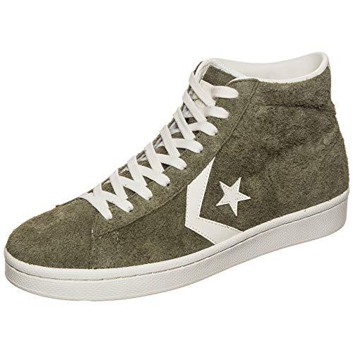 Converse Unisex-Erwachsene Pro Leather Mid Sneaker Grün Olive/Weiß, 42 EU