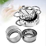 hotomey Dumplings tool 304 Stainless Steel Pastry Dumpling Mold Cake Dumpling Tool Set Dumpling Maker Set Including,1