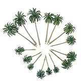 #1: Vosarea 15pcs Scenery Model Coconut Palm Trees HO O N Z Scale