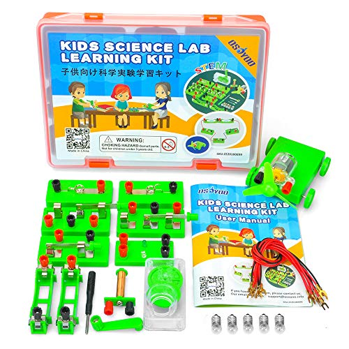 OSOYOO STEM Science Experiment Set,Physics Electromagnetic Lab Learning Kit,Electricity and Magnetism, for Kids Middle High School Students,Fun While Learning,Recommend for Age 5+ (Advanced Lab Kit) (Games Kids Science)