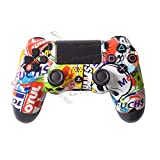 Controller Shell front per controller Sony PS4 - Custodia per controller Playstation 4 Dualshock 4 Shell Replacement - Custom controller PS4 Shell Custodia Cover PS4 Controller Shells - Bomb Skull