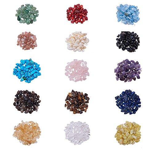 PandaHall Elite 1 Scatola Perline di Pietre Preziose per Gioielli Fai da Te, Colore Misto, 17,4x10x2,15 cm
