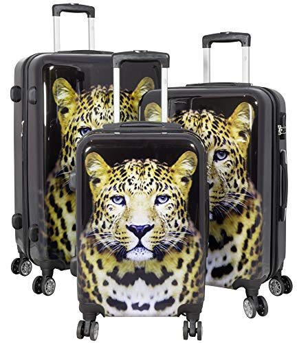 Trendyshop365 Hartschale Koffer-Set Wildlife Leopard 3-teilig Foto