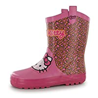 Girls Wellies Pink AOP C11