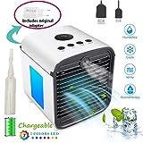 Mini Air Cooler Luftkühler, USB Mobile Klimaanlage Tragbare Air Conditioner - 3 in 1 Mini Luftbefeuchter und Luftreiniger, Tischklimaanlage Ventilator, Leakproof, New Filter Paper