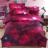 Webla - 4 Piezas de Ropa de Cama Starry Duvet Estrellado En 3D Establece 150X210Cm + Sábana 180X230Cm + 2 Fundas de Almohada 50X75 Cm Para 2 Personas