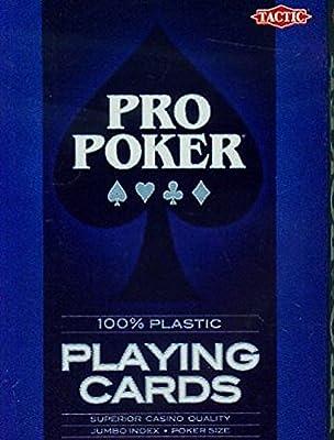 Tactic - 03133 - Poker - Propoker : Cartes Plastiques