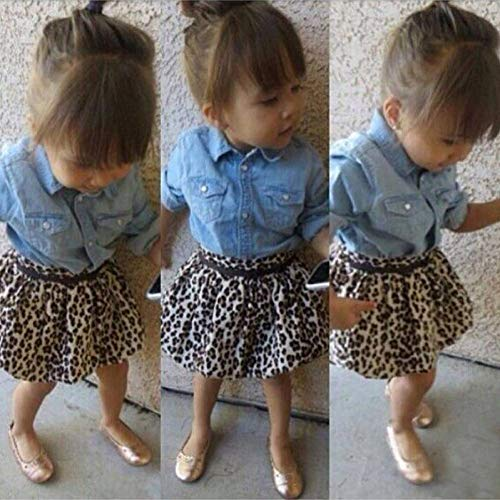 KIHUI 2019 Herbst Neue Kinder Baby Mädchen Kleidung Set Kinder Denim Bluse Rock Schuluniform Adrette Kleidung Anzüge -