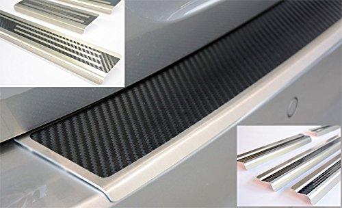 Preisvergleich Produktbild WGS SparSET Ladekantenschutz Einstiegsleisten Lackschutz mit ABKANTUNG Carbon auf AluNox® (2142-803)