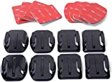 XCSOURCE® Helmet Accessories Kit Set 4x Flat 4x Curved Surface Mounts + 3M Adhesive For Gopro Hero 1 2 3 3+ 4 OS86