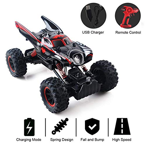 RC Car Off Road 2.4GHz RC Trucks 1:14 4WD High Speed Electric Remote Control Racing Cars Drift SUV Red by Crazepony-UK