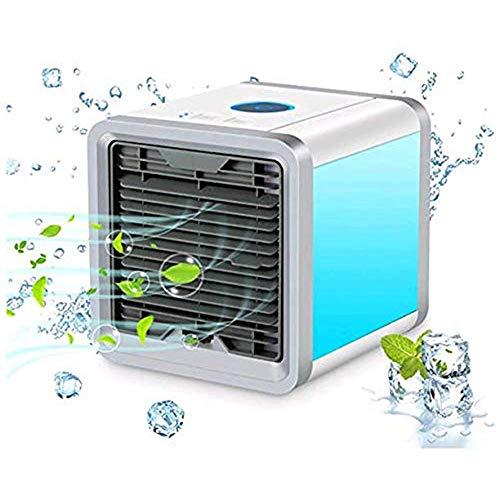 HANG-FAN 3 in 1Mini Air Cooler Mobile Klimaanlage Tischventilator Luftkühler Aircooler Klimagerät Klima tragbar Ventilator Luftbefeuchter Luftreiniger