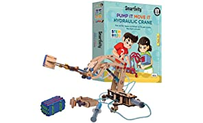 Smartivity Pump it Move it Hydraulic Crane STEM STEAM Educational DIY Building Construction Activity Toy Game Kit, Easy Instructions, Experiment, Play, Learn Science Engineering Project 8+