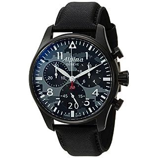 Alpina Men's Analog Swiss-Quartz Watch with Leather Strap AL-372BMLY4FBS6