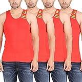 Zippy Men's Swift Sleeveless Red Vest (Pack of 4)