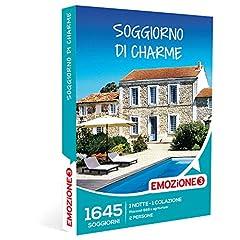 Idea Regalo - EMOZIONE3 - Cofanetto Regalo - SOGGIORNO DI CHARME - 1645 soggiorni di charme in B&B e agriturismi in Italia