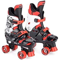 Patins à roulettes garçon quad Osprey, Rollers quad réglables