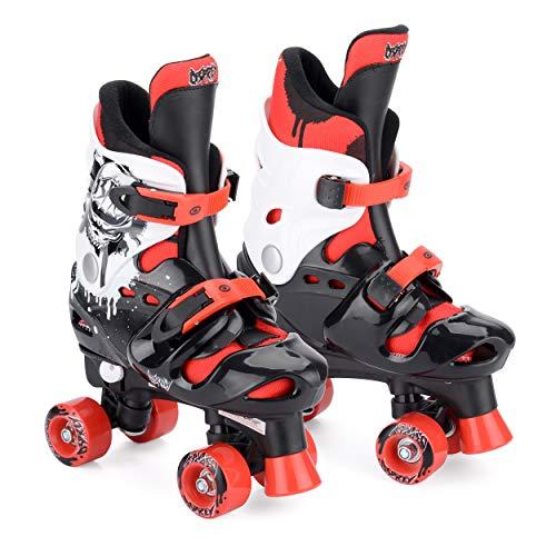 Osprey Quad Skate Rollschuhe Für Jungen, schwarz/rot/weiß, 28 - 30,5, TY4800