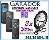 3 X GARADOR HS1 / HS2 / HS4 Kompatibel Handsender, Ersatz sender, 868.3Mhz fixed code, Klone