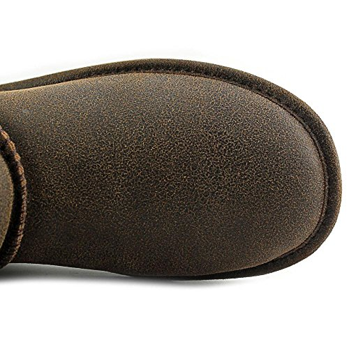 Bearpaw Lauren Cuir Botte d'hiver Distressed Chestnut