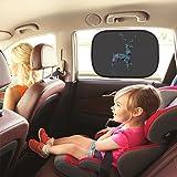 Splink 2pcs Bambini Tendina Parasole Laterale per Auto Finestrini Laterali Automobile 49X31cm Protezione dai Raggi UV e dal Calore Reticolo del Cervo