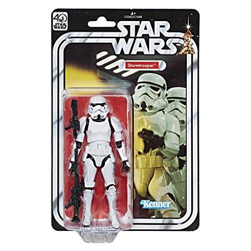 Star Wars - Black Series 40 aniversario figura Stormtrooper, 27.7 x 18.2 x 4.9 cm, multicolor (Hasbro C2262EU4)