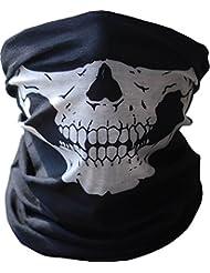 Angelia Call of Duty Black Skull Face Tube Mask Neck Gaiter Dust Shield Seamless Bandana Balaclava by Angelia