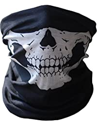Angelia Call of Duty Black Skull Face Tube Mask Neck Gaiter Dust Shield Seamless Bandana Balaclava by Angelia