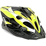 Kamachi Cycling/Skating Head Protector Helmet ((Fluorescent Green/White (M))