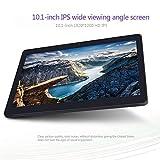 KuBi 10-Zoll-Tablet Android-Octa-Core-Tablet mit Zwei SIM-Kartensteckplätzen entriegelt 3G 4G-Telefonanruf Phablet 4GB RAM 64GB ROM-Tablet-PC in WiFi und Kamera GPS (schwarz)