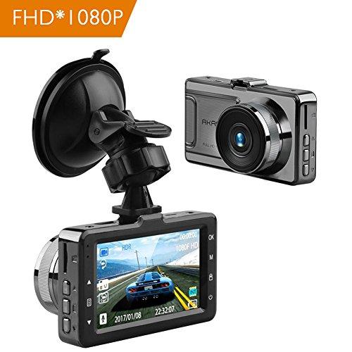 AKASO Dashcam Full HD 1080P Auto Kamera mit Sony Sensor 170° Weitwinkelobjektiv, 3 Zoll LCD-Bildschirm Autokamera mit G-Sensor, WDR, Parkmonitor, Loop-Aufnahme