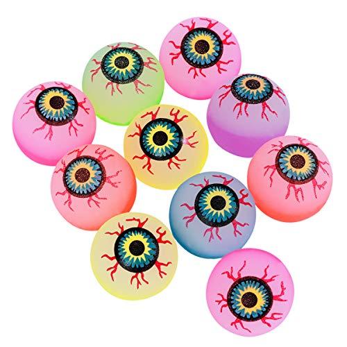 (TOYMYTOY 10 Stücke Weihnachten Glow Bouncy Balls Scary Eye Balls Partei Liefert (32mm Zufällige Farbe))