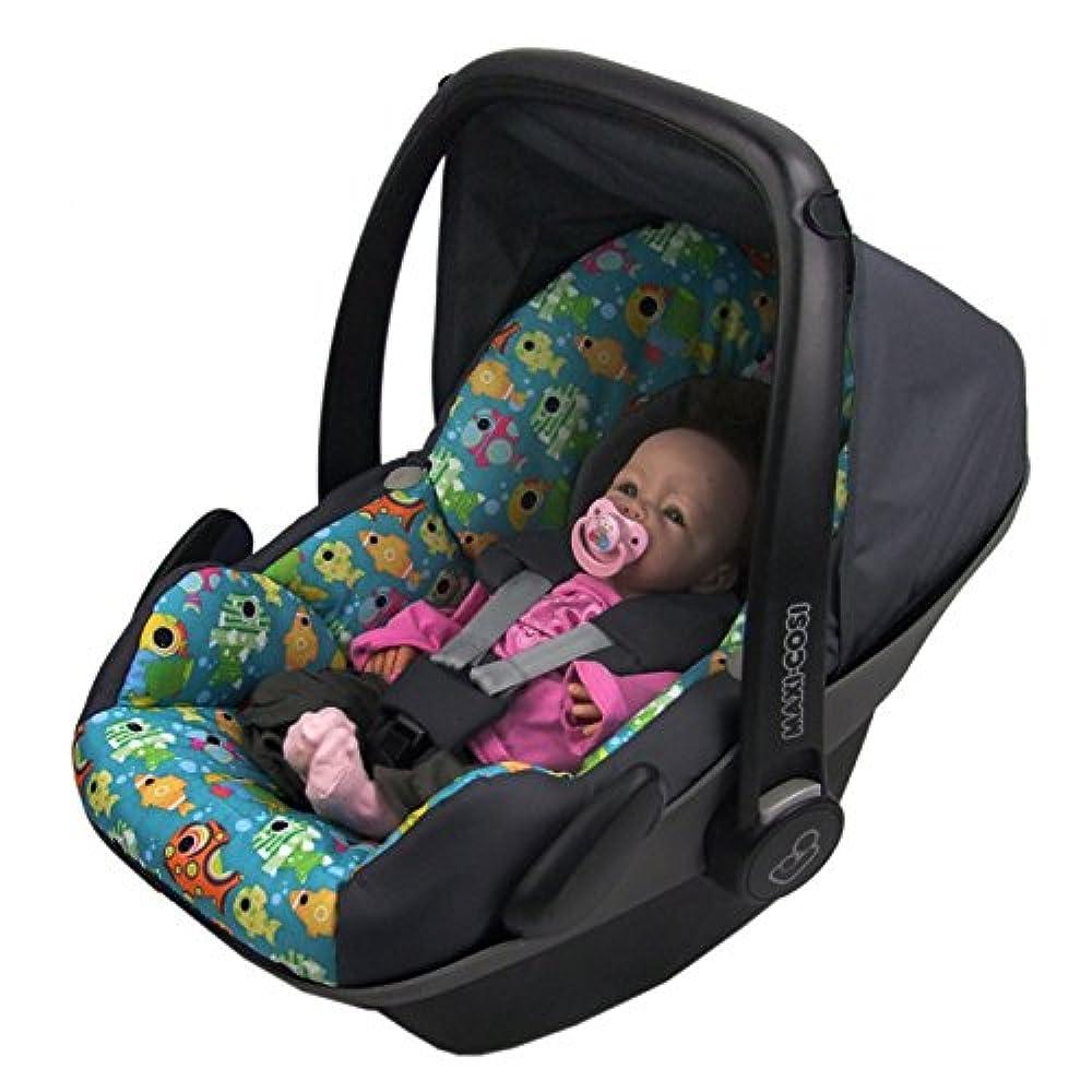 BAMBINIWELT Ersatzbezug f/ür Maxi-Cosi CabrioFix 6-tlg PINKE BUNTE TIERE *NEU* Bezug f/ür Babyschale Komplett-Set DUNKELGRAU