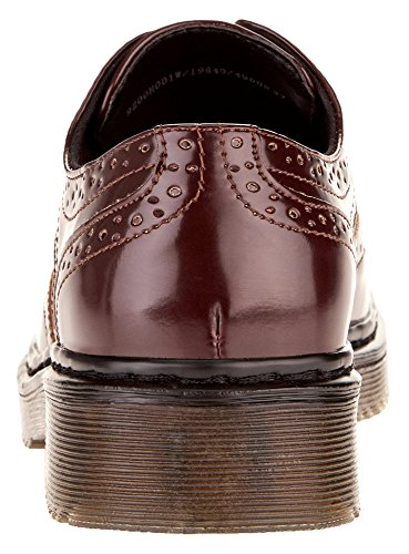 oodji Collection Femme Chaussures Oxford en Simili Cuir Rouge (4900N)