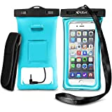 [2016 New Design] Floatable Waterproof Case Dry Bag with Armband and Audio Jack for iPhone 6, 6 plus, 6s, 6s plus, 5, 5s, 4, Samsung Galaxy S6 / S6 Edge, S7 / S7 Edge / S5 , Samsung Note 5, 4; Eco-Friendly TPU construction Waterproof Bag and IPX8 Certified to 100 Feet by 3iART®
