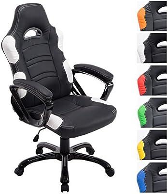 CLP silla de ofinca Gaming Racing RICARDO XL, regulable en altura 47 - 57cm, carga máxima 150 kg, tapizado de alta calidad