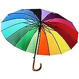 Xl Schirm BUNT Regenbogenschirm Regenschirm Partnerschirm Regenbogen Ø 104cm Damen Partnerschirm Automatik