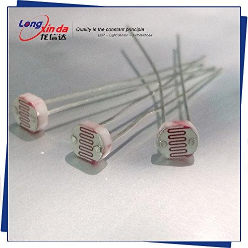 Fotowiderstand lxd5528/Dark Widerstand: 1mohm/Widerstand: 8–20kOhm 16.85mm Serie light-dependent Widerstand, 0