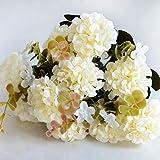 ZTTLOL Chrysantheme Daisy Kunstseide Blume 10 Köpfe Bunte Bouquet Gefälschte Blumen Blätter Hausgarten Party Decor Blumen