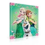 Disney Frozen Elsa Anna Olaf Leinwand Bilder (PPD2250O1FW) - Wallsticker Warehouse - Size O1 - 100cm x 75cm - 230g/m2 Canvas - 1 Piece