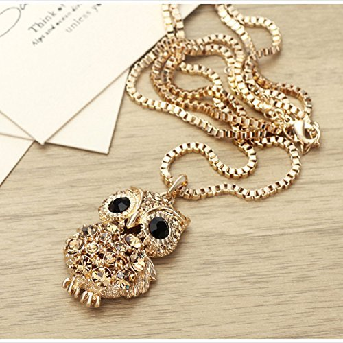 ❤Regalo Di San Valentino❤ SWAROVSKI ELEMENTS Set Collana Gufo Portafortuna  Donna Con Ciondolo A Forma In Confezione Regalo Neoglory Jewellery