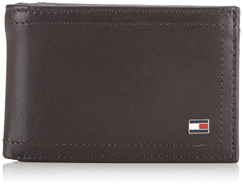 Tommy Hilfiger Herren HARRY MINI CC FLAP & COIN POCKET Geldbörsen, Braun (COFFEE BEAN-PT 212), 11x7x2 cm