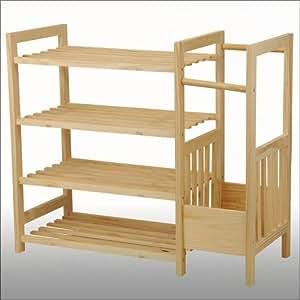 Scarpiera portascarpe portaombrelli legno di pino 4 for Amazon portaombrelli