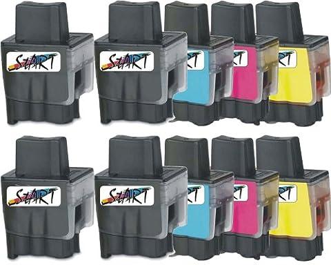 Start - 10 Cartouches d'encre compatibles remplace LC-900, Noir, Cyan,