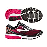 Brooks Women's Ghost 10 Black/Pink Peacock/Living Coral 6 AA US