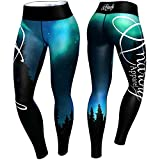 Anarchy Apparel Leggings, Aurora, türkis-schwarz, Compression Pants, Fitness