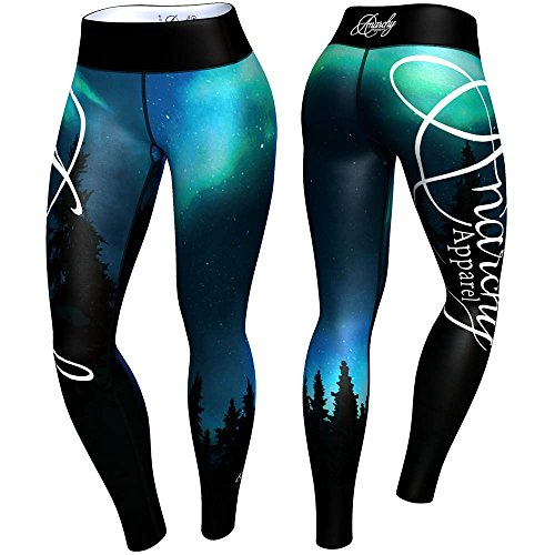 anarchy-apparel-leggings-aurora-turkis-schwarz-compression-pants-fitness-grosse-s